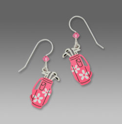 Sienna Sky Pink Golf Bag Earrings