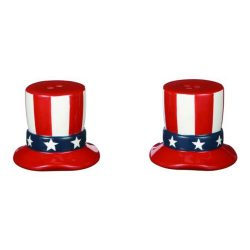 Americana Uncle Sam Hat Salt & Pepper Shaker Set