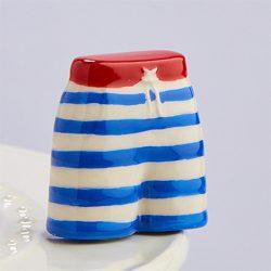 Jump In! Blue and White Swim Trunks Mini A184