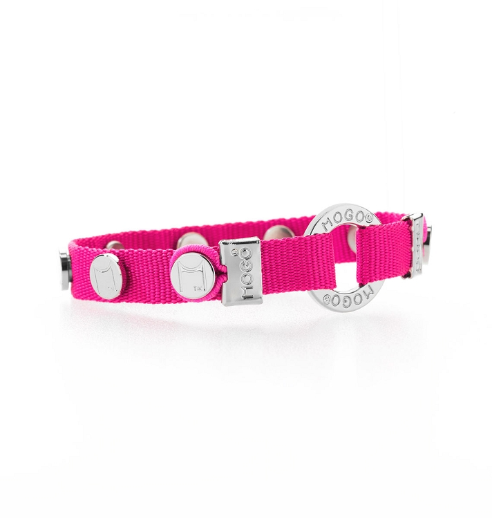 Mogo Neon Pink Charmband